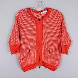 CAbi | Orange Double Zip Jacket